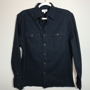 Men's Sonoma Navy Blue Denim Top NWOT size M